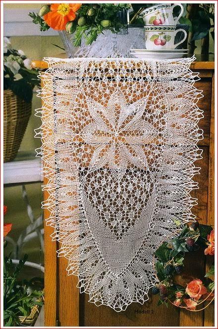 Maravillosas carpetas tejidas con dos agujas