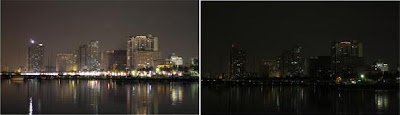 Manila, Filipinas, durante a Hora do Planeta
