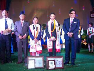 Ugen Gyatso Bhutia, tourism Minister of Sikkim in PR Pradhan merit award 2015 to Pooja and Bivek, Kehi bot, kehi beruwa unveils