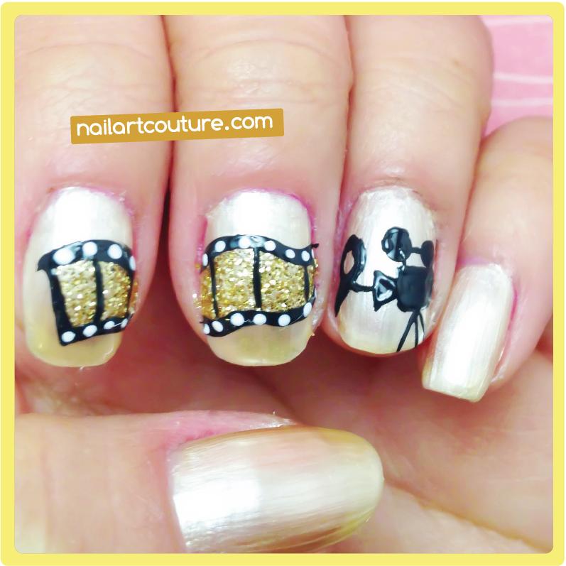 Nail Art Couture★ !: Zoey Deschanel's Film Strip Nail Art