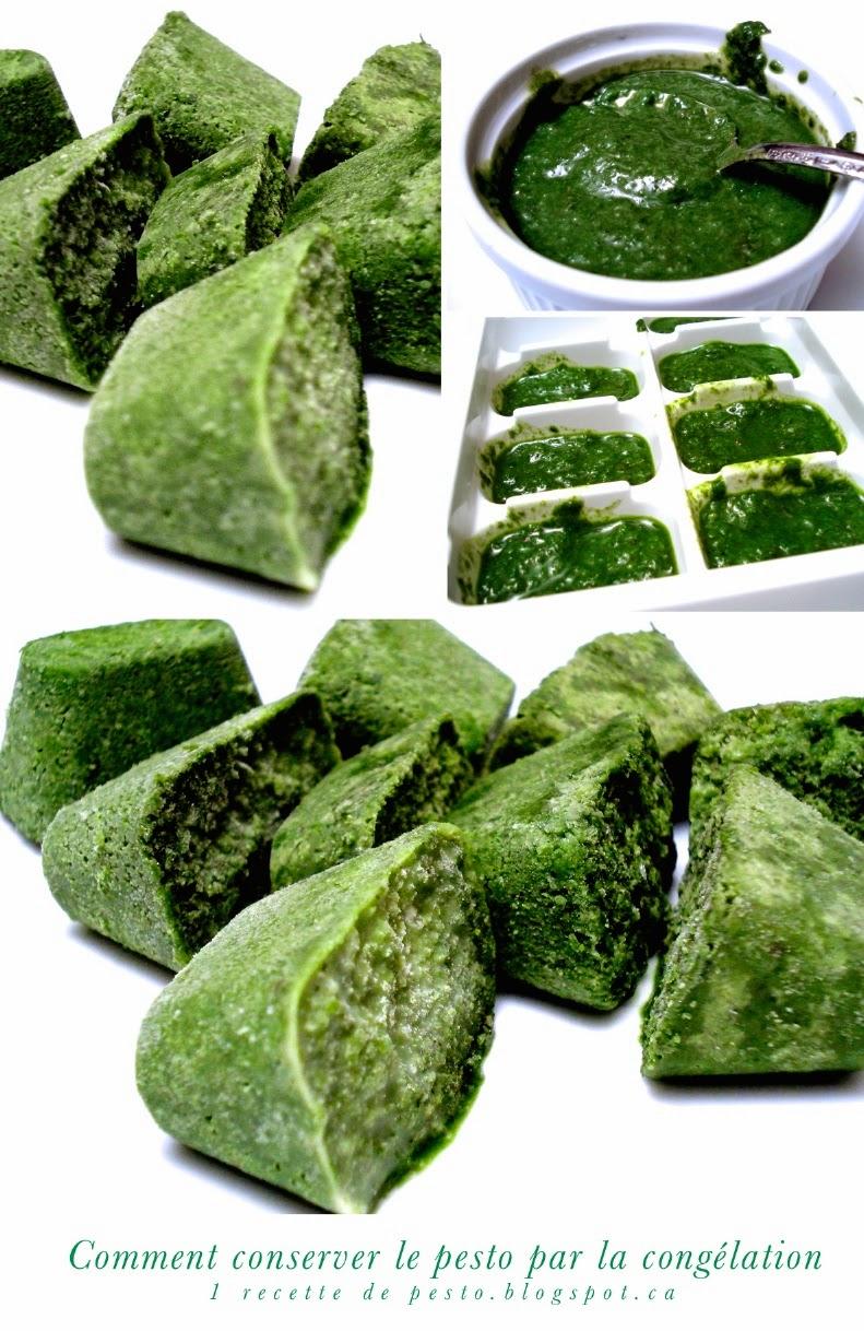 1 recette 1 minute la conservation du pesto par la cong lation - Comment conserver du basilic ...