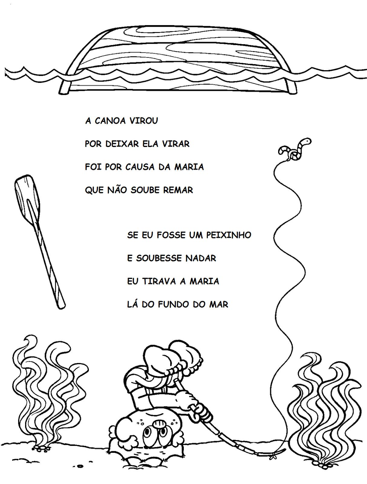 Desenhos Para Colorir Canticos infantis
