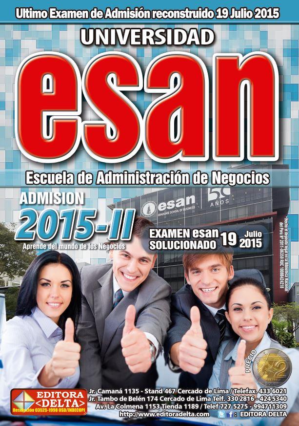 Examen ESAN 2015-II