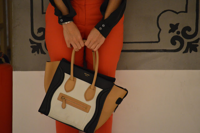 Celine boston tote bag