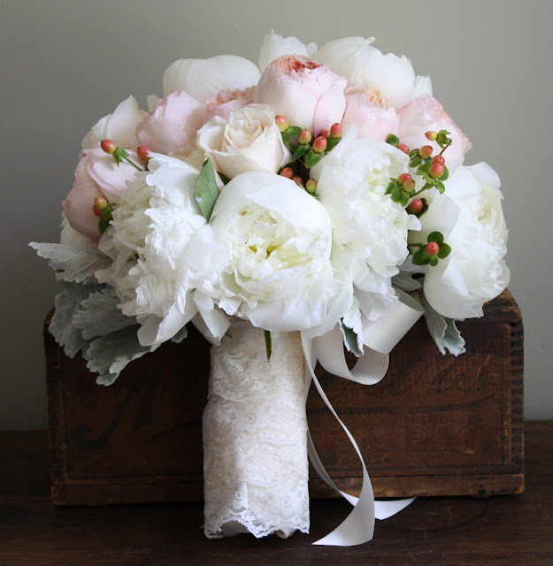 White Peony Bride Bouquet Glen Sanders Wedding Flowers