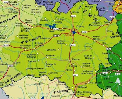 Soria Mapa Ciudad de la Región