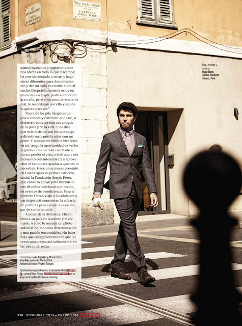 Sergio Checo Pérez revista GQ México Diciembre 2013
