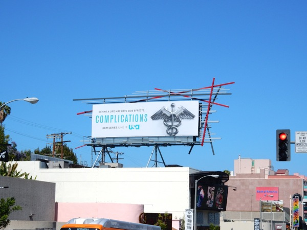Complications series launch billboard