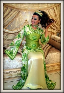 Caftan vert - Caftan Marocain 2014