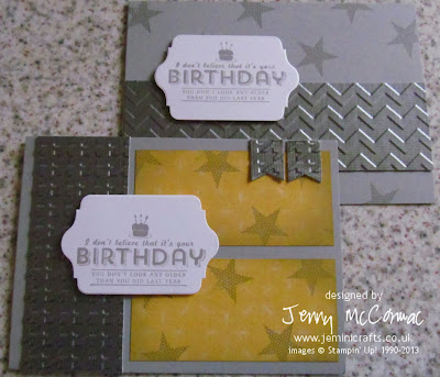 Masculine birthday card Jemini Crafts Big Shot