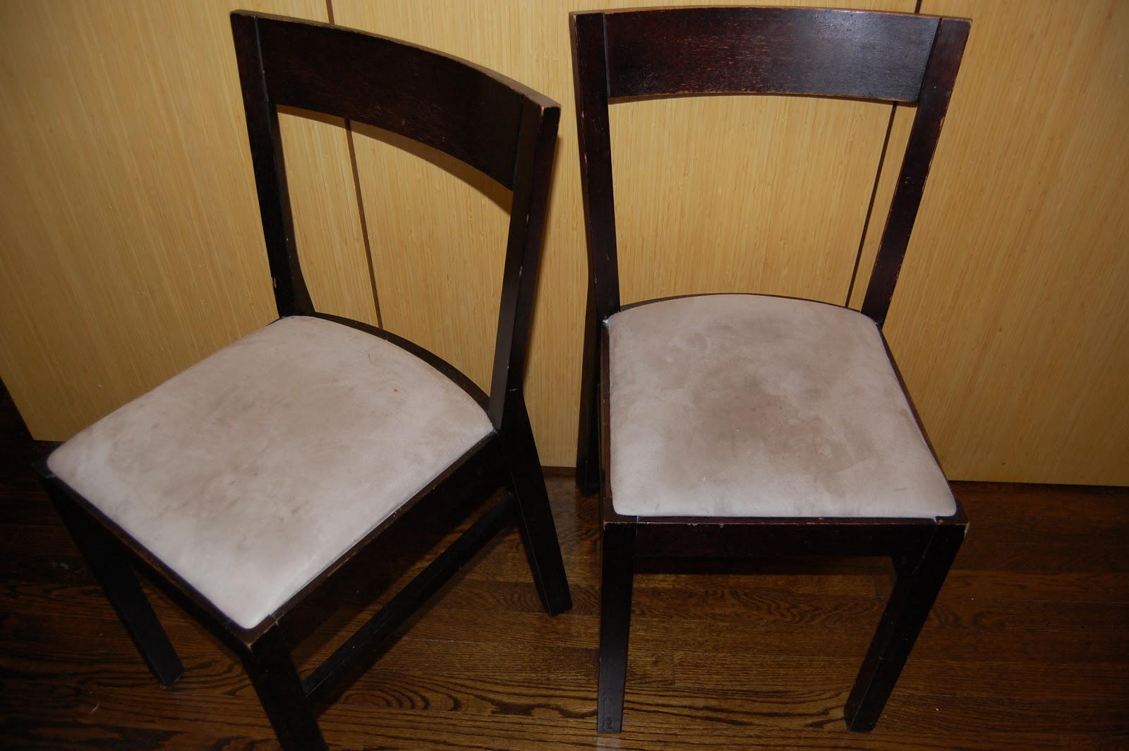 SHED THE LOVE Before and After Kitchen Chair Reupholstery