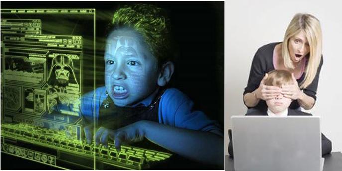 مخاطر الانترنت على الاطفال