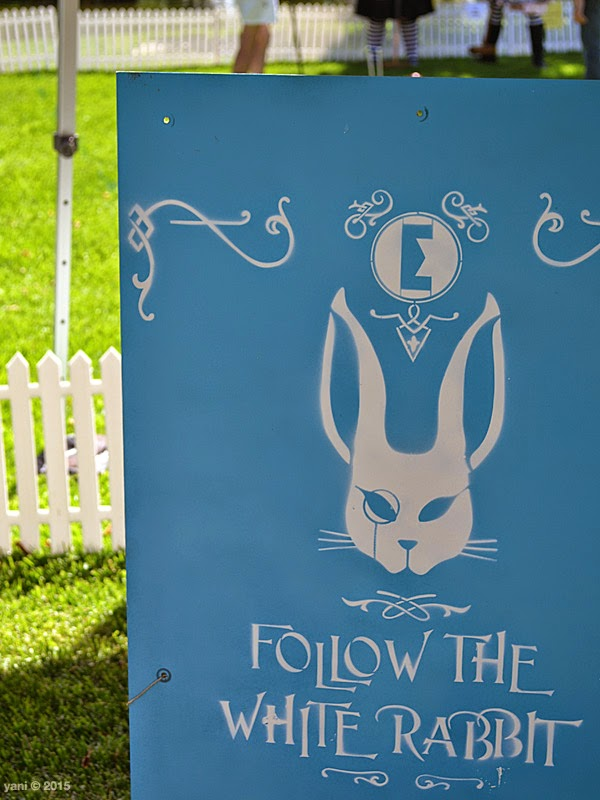 follow the white rabbit by espionage gallery - sign