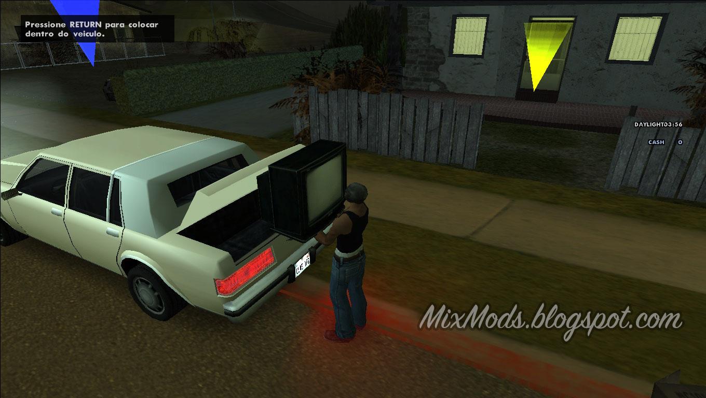 Roubar casas com qualquer carro mixmods mods para for Casa moderna gta sa