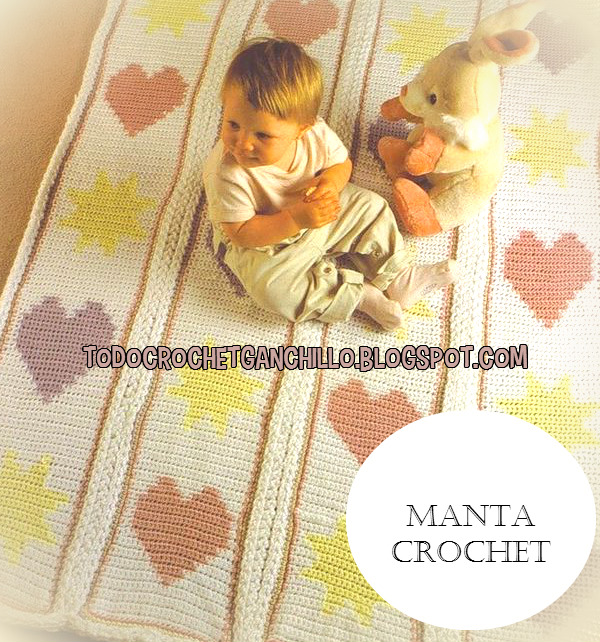 Patrones crochet de manta para bebé | Todo crochet