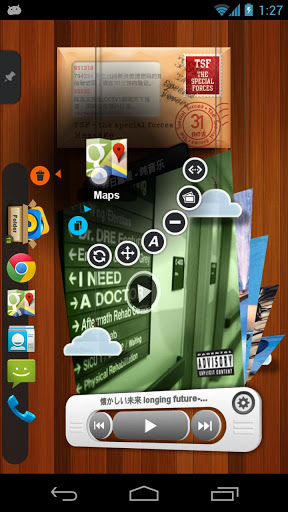 TSF Shell 3D Launcher 2.0.6 apk screenshot