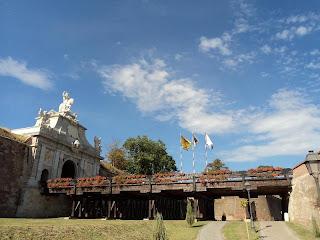 Alba Carolina Citadel III-gate and mobile bridge