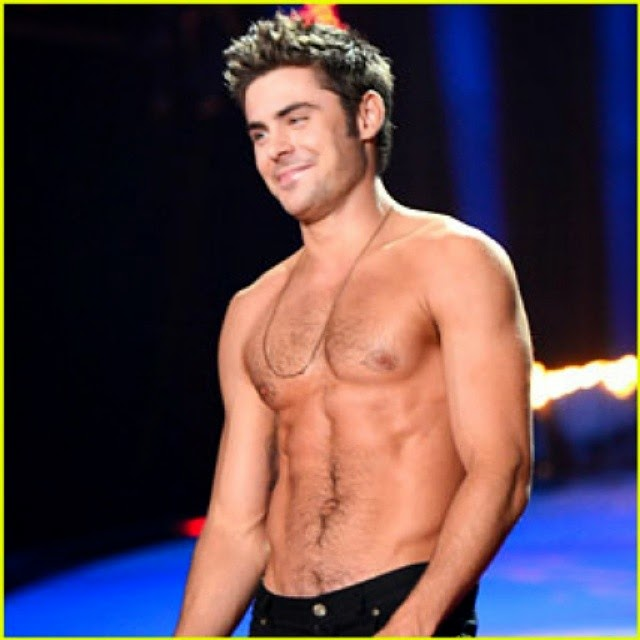 shirtless Zac Efron abs muscles
