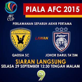 result JDT Vs Al Qadsia 30 September 2015