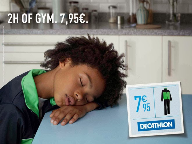 Decathlon niños cansados gimnasio