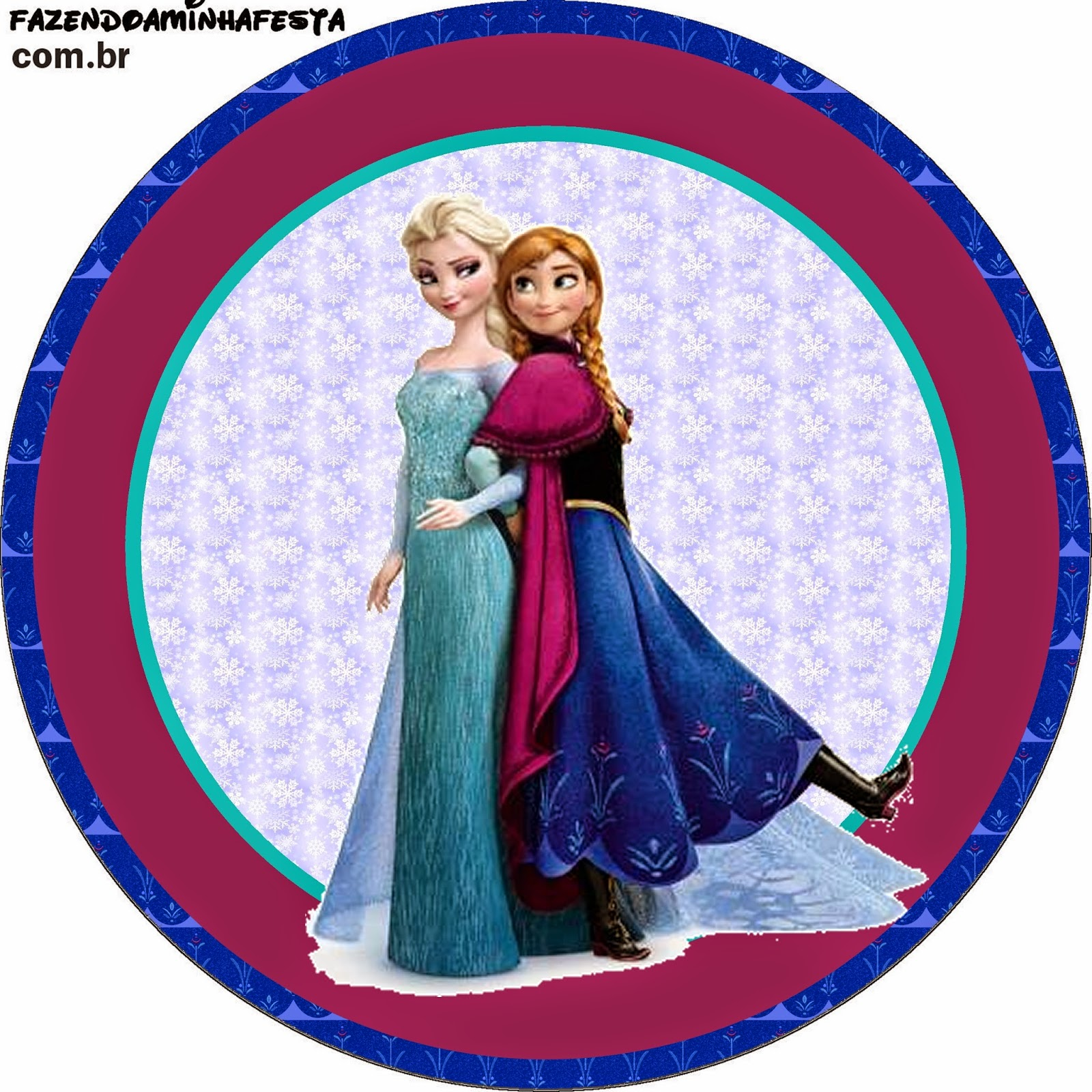 Frozen Wrappers Y Toppers Para Cupcakes Para Imprimir