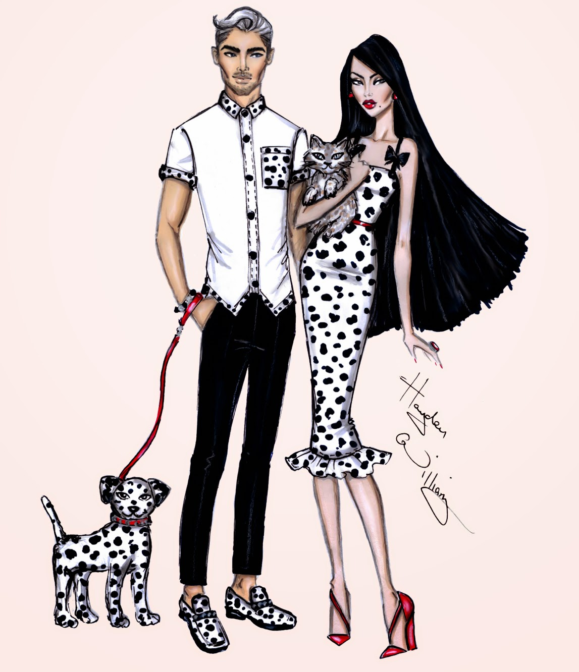 Hayden Williams Fashion Illustrations: Pampered Pets by ...