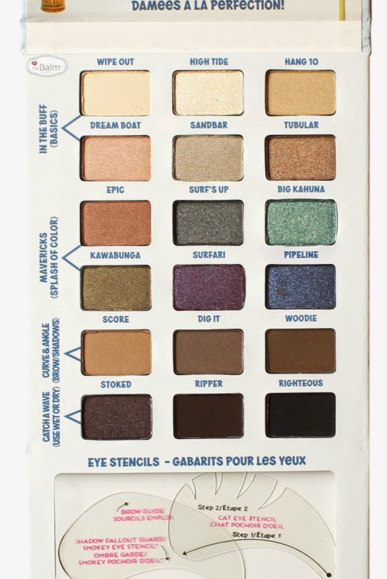 NEW from TheBalm: Balmsai Eyeshadow and Brow Palette with Shaping Stencils