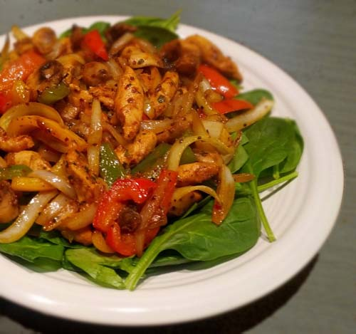 Chicken Fajitas Salad