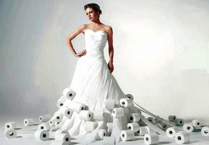 Toilet Paper, Wedding Dress, Toilet Paper Dress, Fashion Designer, Fashion, Showbiz, Toilet paper wedding dress, Fashion Contest,