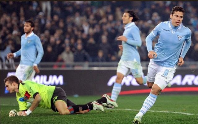 Lazio-Catania 3-0 Hernanes