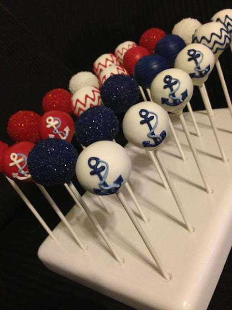 Anchors Away Cake Pops by Shelly Poppins