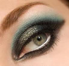 Green Shade Smokey Eye Makeup
