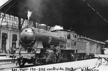 Loc. de vapor 130-2012 contruida por el año 1909
