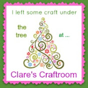 I left some craft under the tree at Clare's Craftroom
