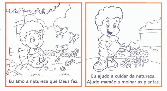 material para o ministério infantil meio ambiente para colorir