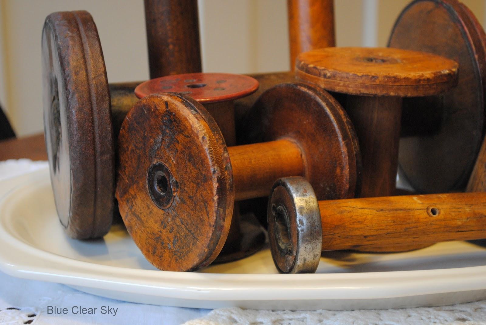 Rustic MapleVintage Industrial Wooden Spools