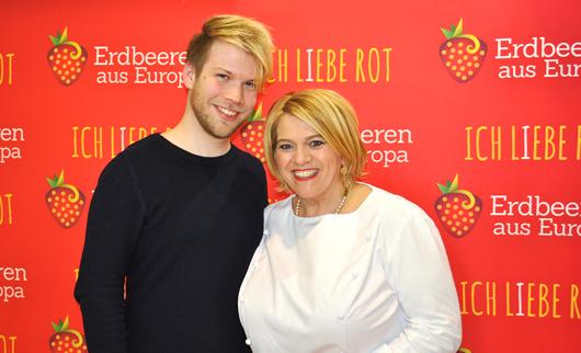 Léa Linster und Björn Valentin
