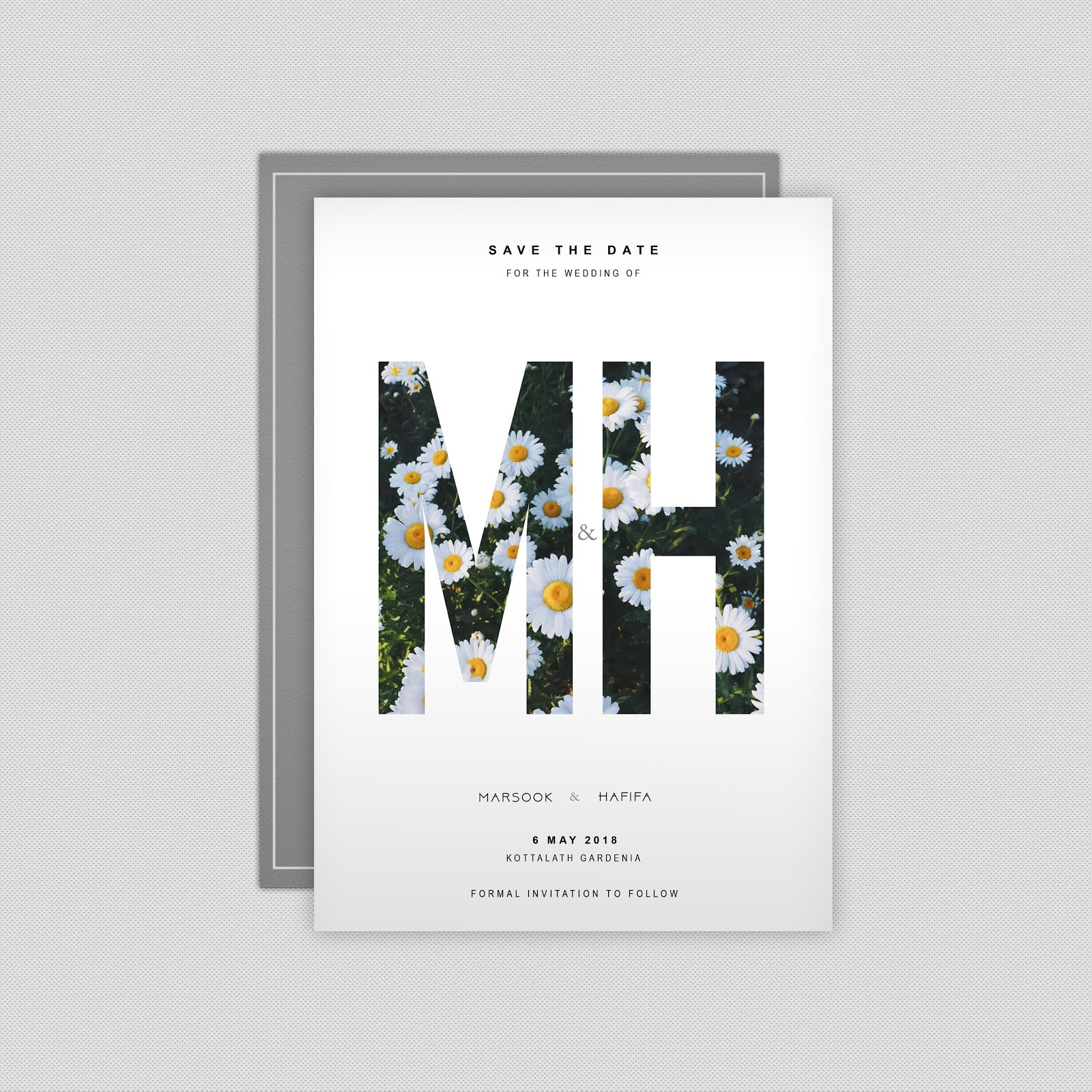 save the date wedding card design