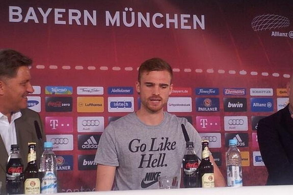 Jan Kirchhoff's shirt also carried Nike's 'swoosh' logo