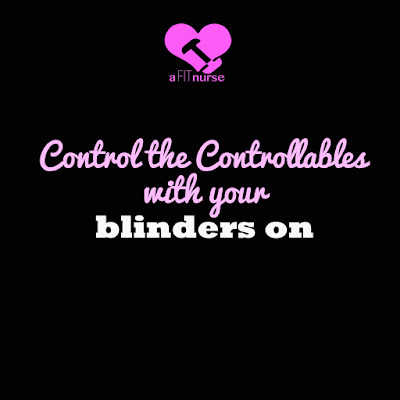 Control the controllable with your blinders on