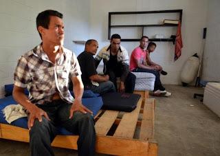Balseros detenidos en Isla Mujeres