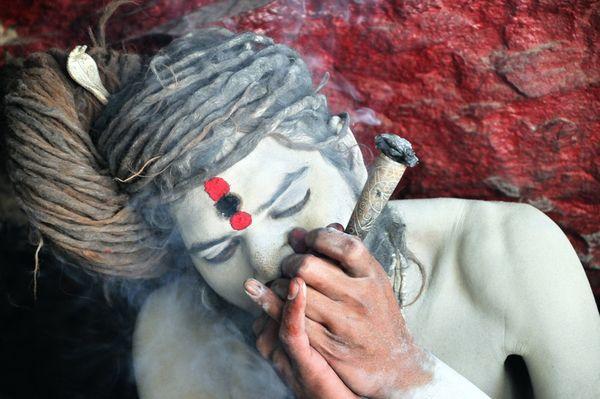 homem santo indiano