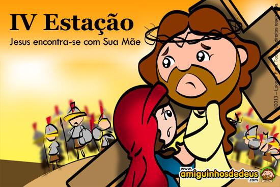 Via Sacra IV Estação - Jesus encontra-se com Sua Mãe