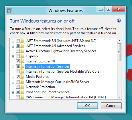 Cara Mudah Instal Internet Information Services (IIS) 8 pada Windows 8 step 3