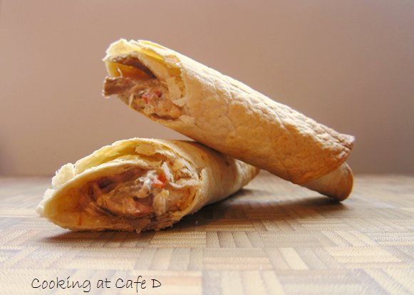 Cheesy Pork Taquitos - BAKED