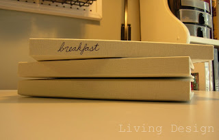 Living Design: Organized Recipe Books