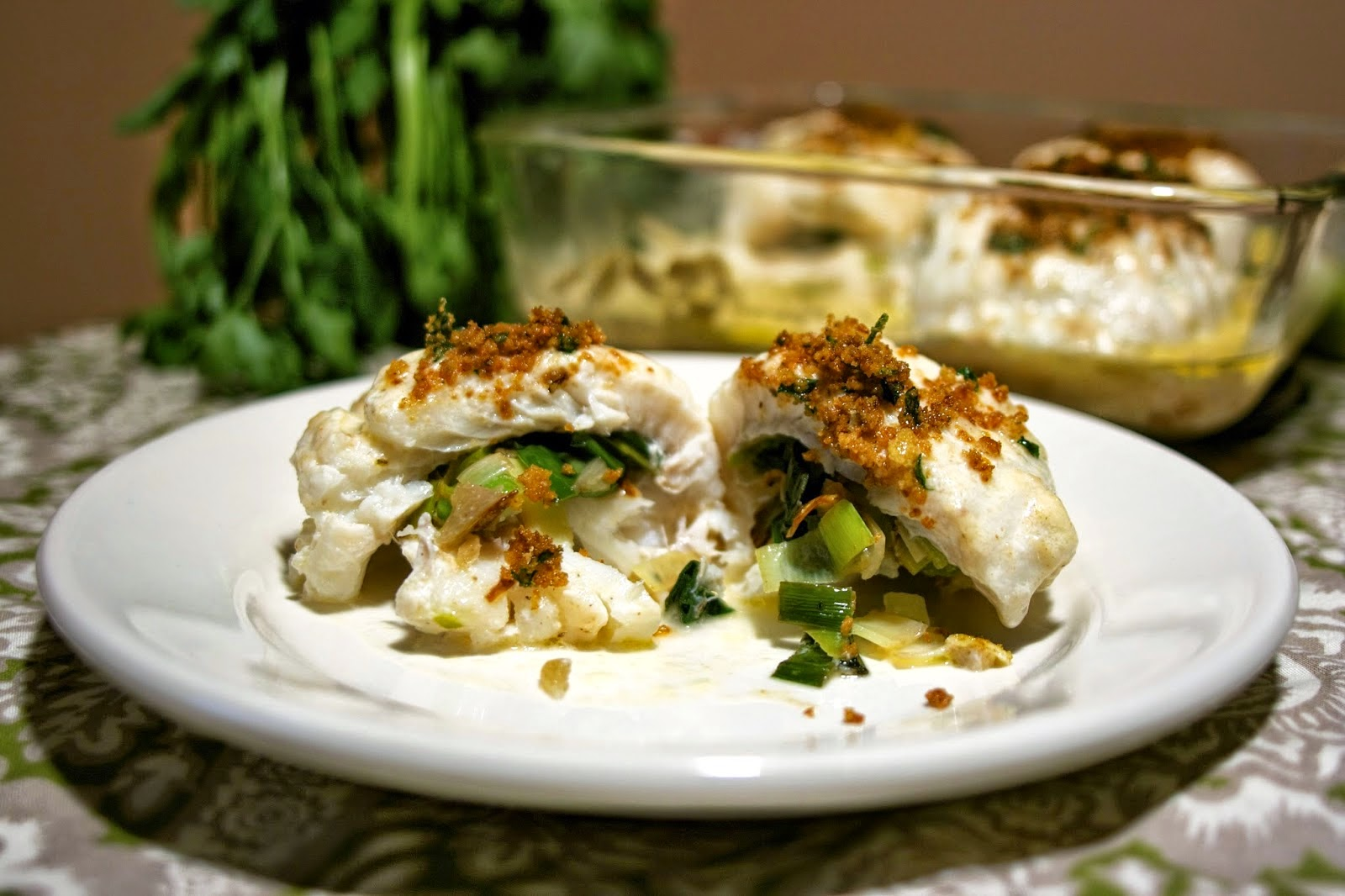 Haddock with Parsley Cream Sauce: simplelivingeating.com