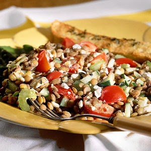 Lentil Salad with Feta Cheese Recipe