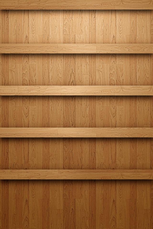 Android Bookshelf Wallpaper Wooden Bookshelf Iphone 4