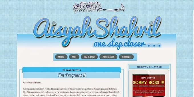 Tempahan Design Blog :  Blog AisyahShahril
